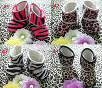Winter Snow Boots Mid-Calf Zebra Leopard Baby First Walker boot Shoes infant baby prewalker snow boots kids Anti slip ugg boots Newborn baby warm shoes Children boots