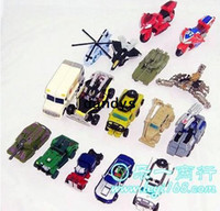 Wholesale A variety of small deformation toy cars Robot dandys