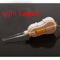 Cheap Merry Christmas! Chldren Kids Baby Safe VIOLIN LED Flashlight Antiskid Lighting Earpick Wax Remover Tool JHB-203