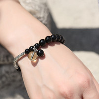 Stone Fashion Bracelets Must See Tibetan silver plumbing trap natural black tourmaline bracelet best