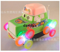 Wholesale Cars cartoon children s toys dump truck with light music Roll bar Toy car model electric car dandys