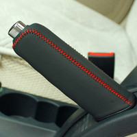 Wholesale Handbrake Cover For Skoda Octavia Skoda Superb XuJi Car Special Hand stitched Black Genuine Leather Handbrake Covers