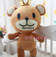 achat en gros de anniversaire peluche poupées d'ours-80cm - ours en peluche Big Crown Peluche ours poupée poupée jouet en peluche ours en peluche poupée cadeaux d'anniversaire, livraison gratuite , dandys