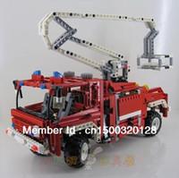 Retail Blocks Unisex Decool Fire Engine Aerial Ladder Fire Truck 1036pcs Building Blocks Sets Legoland Educational Jigsaw Enlighten DIY Bricks Toys