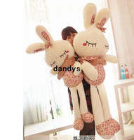 Pink bear gift box toys - 100cm large Plush Toys Bunny Dolls Stuffed Animals Rabbit Soft Toy with Gift Box High Quality Gifts for Kids dandys