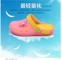 Wholesale New Spring Summer Baby Boy Girl Children Cartoon Slippers Garden Beach Outdoor Slip Hole Shoes European Size
