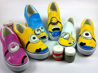 Wholesale 6 Types Despicable Me cartoon figure The Minions Couples Shoes hand painted shoes women and men casul canvas shoes tenis