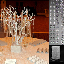 30 Feet 9M Garland Diamond Strand Hanging Acrylic Crystal Bead Curtain Chains Party Tree Wedding Centerpiece Decor