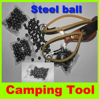 ammo - New mm Steel Ball Outdoor For Slingshot replacement catapult AMMO Stainless Steel Ball Outdoor hunting SEALED BAG camping kit Hot sell H