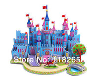 Wholesale Castle Puzzles DIY D Puzzle For Children Kids Jigsaw educational intelligence development Toy