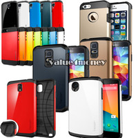 Wholesale Hybrid Shock Absorption SGP Slim Armor Tough Armor Case Back Cover for iphone Plus S C S Samsung Galaxy S5 S4 NOTE LG Fast DHL