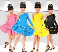 ballet dance exercises - Girls Latin Dance Exercises Clothes Cake Skirt Children s Dancewear Performance Clothes Modern Ballet Latin Dance Stage Costume color