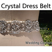 Wholesale 2015 Real Image Glass Crystal Pearl Rhinestone Handmade Luxury Wedding Dress Belt Bridal Accessory Sash