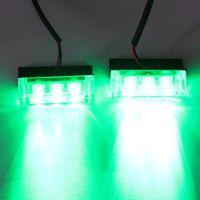 Wholesale 2x3 LED strobe light led green flash light Green Fire Flashing Blinking Strobe Emergency Car Lights Kit