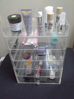 Wholesale Clear Acrylic Cosmetic Organizer Drawers Big Acrylic Makeup Storage Box Plus A Top Tray mm