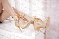 Women Pumps Stiletto Heel New Arrival Hot fantastic lace up glitter heels wedding shoes 10CM pointed toe sexy high heels silver gold women prom dress shoes