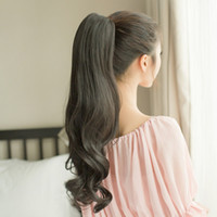 Wholesale Clip on ponytail wig caught pear volume ponytail wig long curly wig fake ponytail piece big wave then scroll