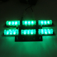 Wholesale White amber red blue green super brightness x LED Emergency Car Truck Snow Plow Warning Signal Strobe Light