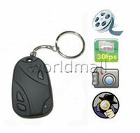 Wholesale MINI Spy CAR KEY Hidden Camera KeyChain Digital CAM Chain DV DVR WebCam Camcorder Video Recorder Mini Spy DVR Pinhole Cam