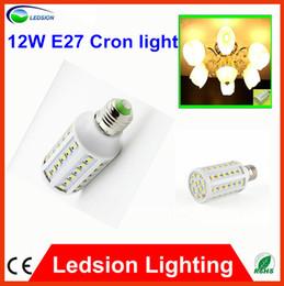 Promotion e27 ce smd Livraison gratuite 10 pcs E27 60LED SMD 5050 12W 110V-240V Ampoule de maïs de la lumière de bulbe de maïs de lumière LED Ampoule LED 85Lm / w 50000H, CE ROHS