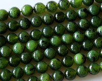 Wholesale Discount Natural Genuine Canada Green Jade Round Loose Stone Beads mm Fit Jewelry DIY Necklaces or Bracelets quot