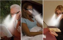 +1.0+1.5+2.0+2.5 +3.0Black and red Strength LED Reading Glasses Plastic LED Light Glasses wholesales