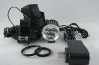 Wholesale Headlamp Lm X CREE XM L T6 LED Headlight LEDs Bike Light Torch US EU UK AU Plug