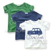 Boy Summer Short-Sleeved Kids summer 2013 new cartoon car baby boy cotton casual short-sleeved T-shirt Children's Clothes