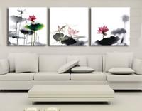 Wholesale Triptych Elegant Lotus Cross Stitch
