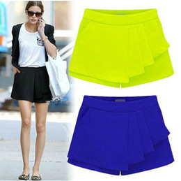 Wholesale summer european style fashion plus size vintage all match candy color shorts women pants