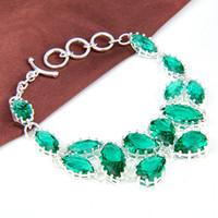 Cheap Link, Chain 925 SILVER bracelet Best Bohemian Women's gemstone Bracelet