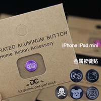 Wholesale Apple iphone5 button stickers affixed iphone4 s brushed metal buttons stickers ipad home button stickers