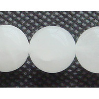 Wholesale Discount Natural Genuine White Jade Round Loose Stone Beads mm Fit Jewelry DIY Necklaces or Bracelets quot