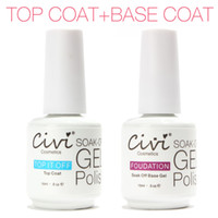 Wholesale Civi Diamond Nail Gel Top Coat Top it off Base Coat Foundation for UV Gel Polish Best on Aliexpress ml