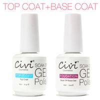 Top Coat Gel   Civi Diamond Nail Gel Top Coat Top it off + Base Coat Foundation for UV Gel Polish Best on Aliexpress 15ml