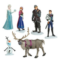 Wholesale Frozen Figure Play Set of Doll Anna Elsa Hans Kristoff Sven Olaf ToysDi movie princess doll toy