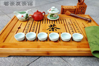 Bamboo ECO Friendly Cups & Saucers Free shipping craftsmanlike Phyllostachys edulis tea tray, kung fu Mao Bamboo tea tray bamboo tea board bamboo tea dish