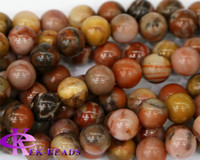 Spike autumn jasper - Discount Natural Genuine Autumn Jasper Round Loose Stone Beads mm Fit Jewelry DIY Necklaces or Bracelets quot