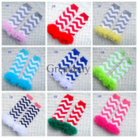 baby girl lace leggings - Baby lace leg warm Chevron knit knee warmer Christmas kids legwarmer boutique leggings Girls boys socks warm feet colors pairs