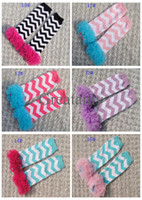 0-6Mos fluffies - Children Fluffies Chiffon Ruffle chevron wave stripe Lace Leg Warmers For Baby Girls boys Kids And Baby Ruffled Leggings colors