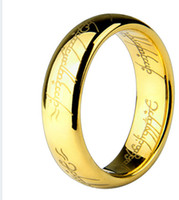 Wholesale 2014 Hot Lord of the Rings K gold plated ring Stainless Steel men women jewelry