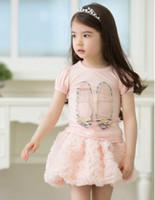 Boy Summer Children 2014new fashion cute little girls shoes pettern cotton T-shirt for Summer children girl tees
