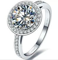 Wholesale sona diamond ring kt gold plated sterling silver T models PT950 platinum mark Moissanite ring K diamond ring high simulation
