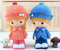 Wholesale Creative gift act the role ofing is tasted Resin dolls coloured drawing or pattern Small dog dog lovers