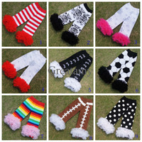 fluffies - Chiffon Ruffle football dots stripe zebra Lace Leg Warmers For Baby Girls boys Children Fluffies Kids And Baby Ruffled Leggings colors
