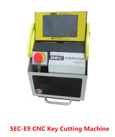 Wholesale DHL SEC E9 CNC automatic key machine key cutting machine Auto key duplicate machine with Cutter Genuine software check teeth