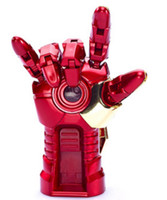 Wholesale Iron Man Hand Model Avengers LED Hand GB GB GB USB Flash Memory Pen Drive Stick Retail Blister Packaging