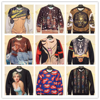 Wholesale 2014 Hot New Fashion For Women Men Printed Sexy Funny D Hoodies Figure Pullovers Sweaters Galaxy Sweatshirts Sport Casual Clothes