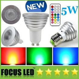 Wholesale 5W RGB LED Bulbs MR16 Dimmable LED Spots Remote controll light High Power Light LED Lamps