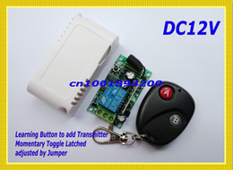 Wholesale 315 MHZ RF Transmitter Receiver VDC CH Remote Control Switch A ON B OFF Wireless Power Switch LED Light Lamp Remote Controller Learnin